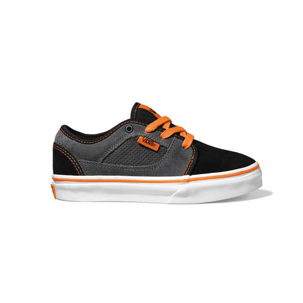 98d5686d1cbc0d Vans Covert Kids Skate Shoes Black Grey Orange