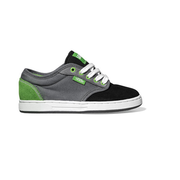 d2c5c1422fb6 Vans Preston Kids Skate Shoes Black Pewter Green