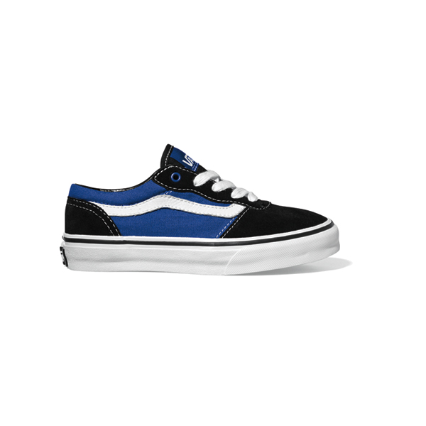 8331c520 Details about Vans Milton Youth Skate Shoes New 2012 Black Blue White Kids  Boys Junior Trainer