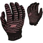 Pow Womens Skinny Snowboard Pipe Gloves / Bike Gloves in Black Pink