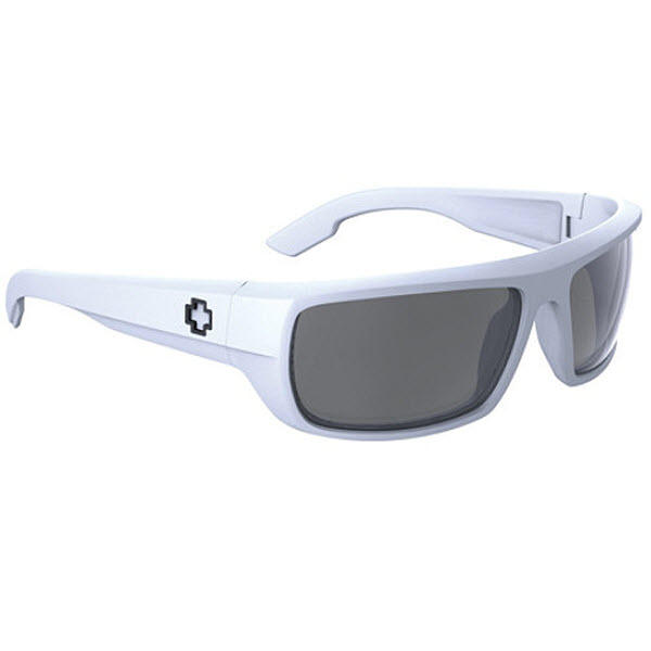 7b56811ac2d Spy Optic Bounty Sunglasses Matte White Grey Lens New