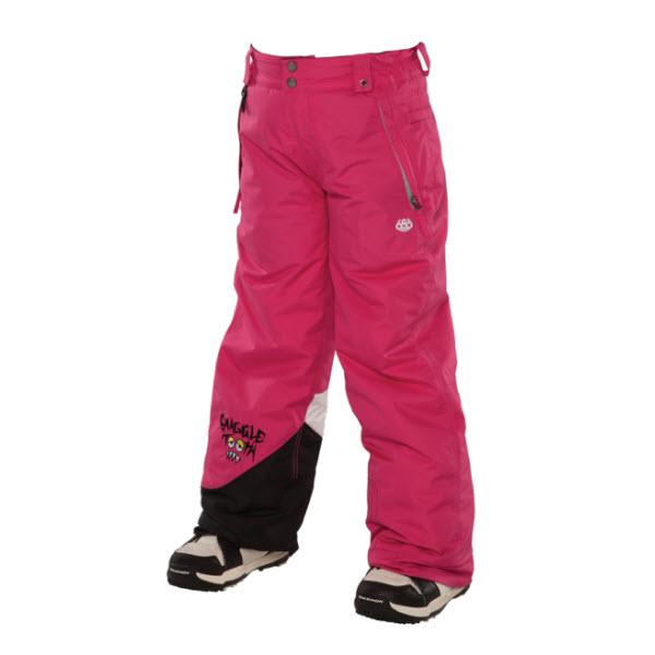 686 Snaggle Sister Girls Snowboard Pants Raspberry Medium Age 10 12