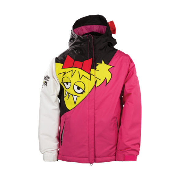 686 Girls Snaggle Sister Insulated Jacket Medium Raspberry