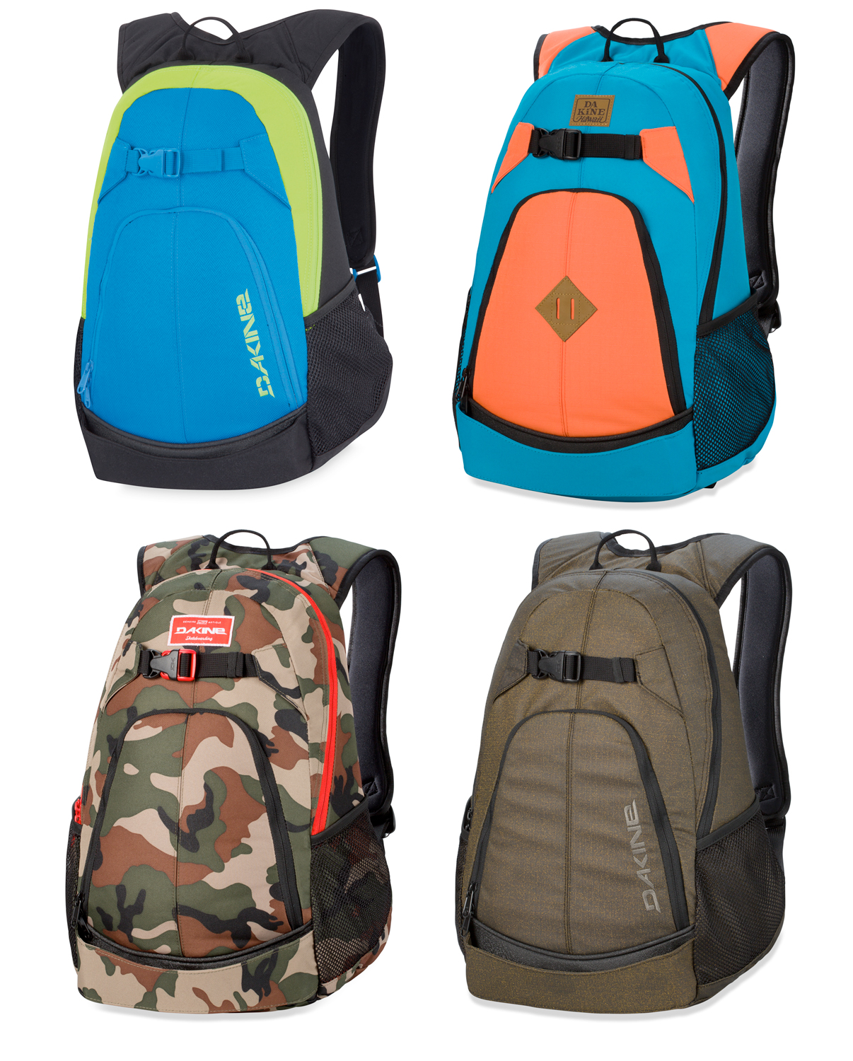 dc63ee2ff482 Sentinel Dakine Pivot 21L Backpack 2014 Skateboard Rucksack Skate Back Pack  Bag 8120080