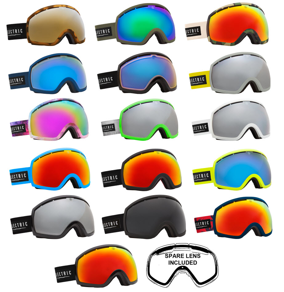 371f97fff7d Sentinel Electric Snowboard and Ski Goggles - EG2 - Including Spare Low  Light Lens