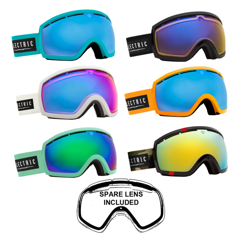 9aabf94de687 Sentinel Electric Snowboard and Ski Goggles - EG2.5 - Including Spare Low  Light Lens