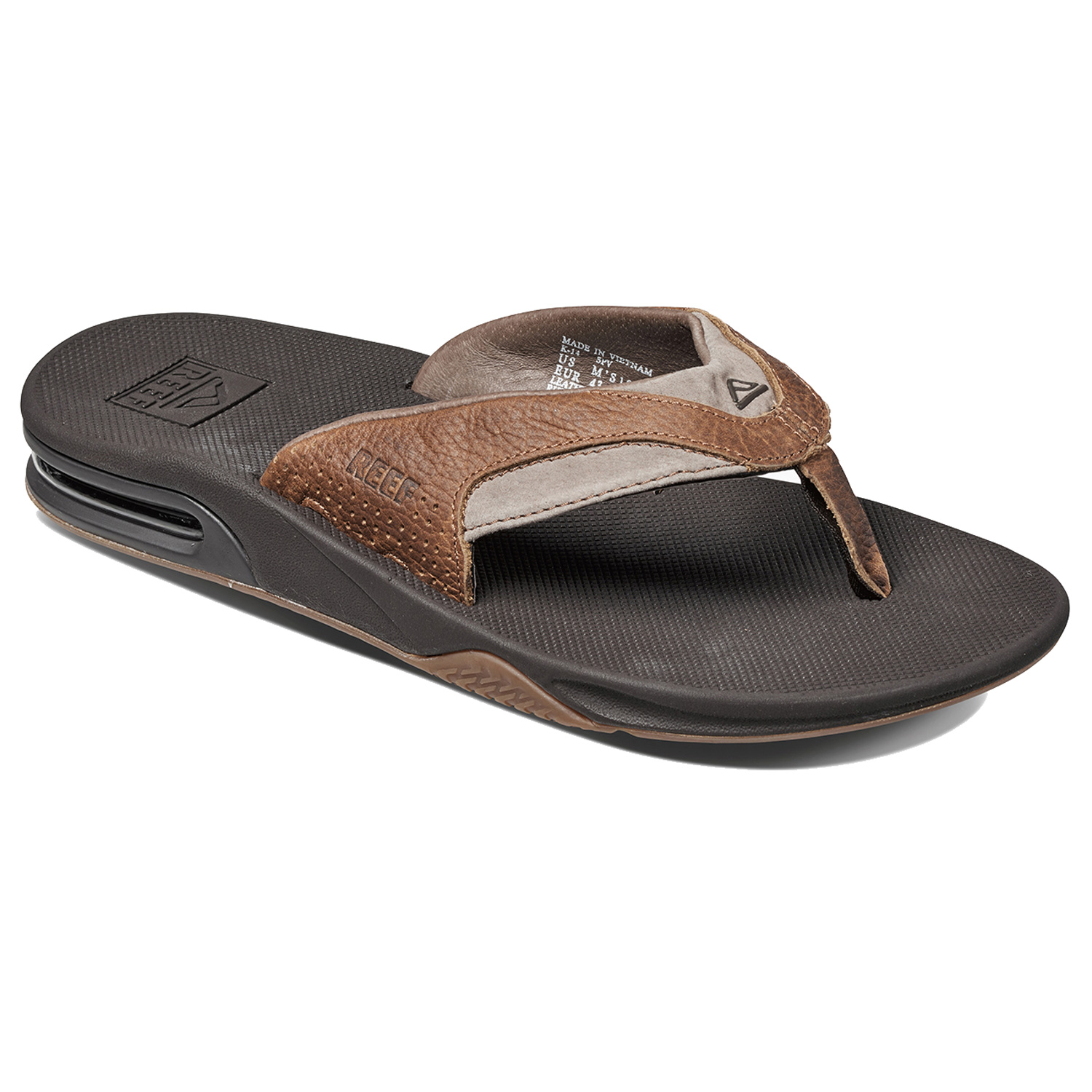 dcedc1b9f2a Reef Leather Fanning Flip Flops
