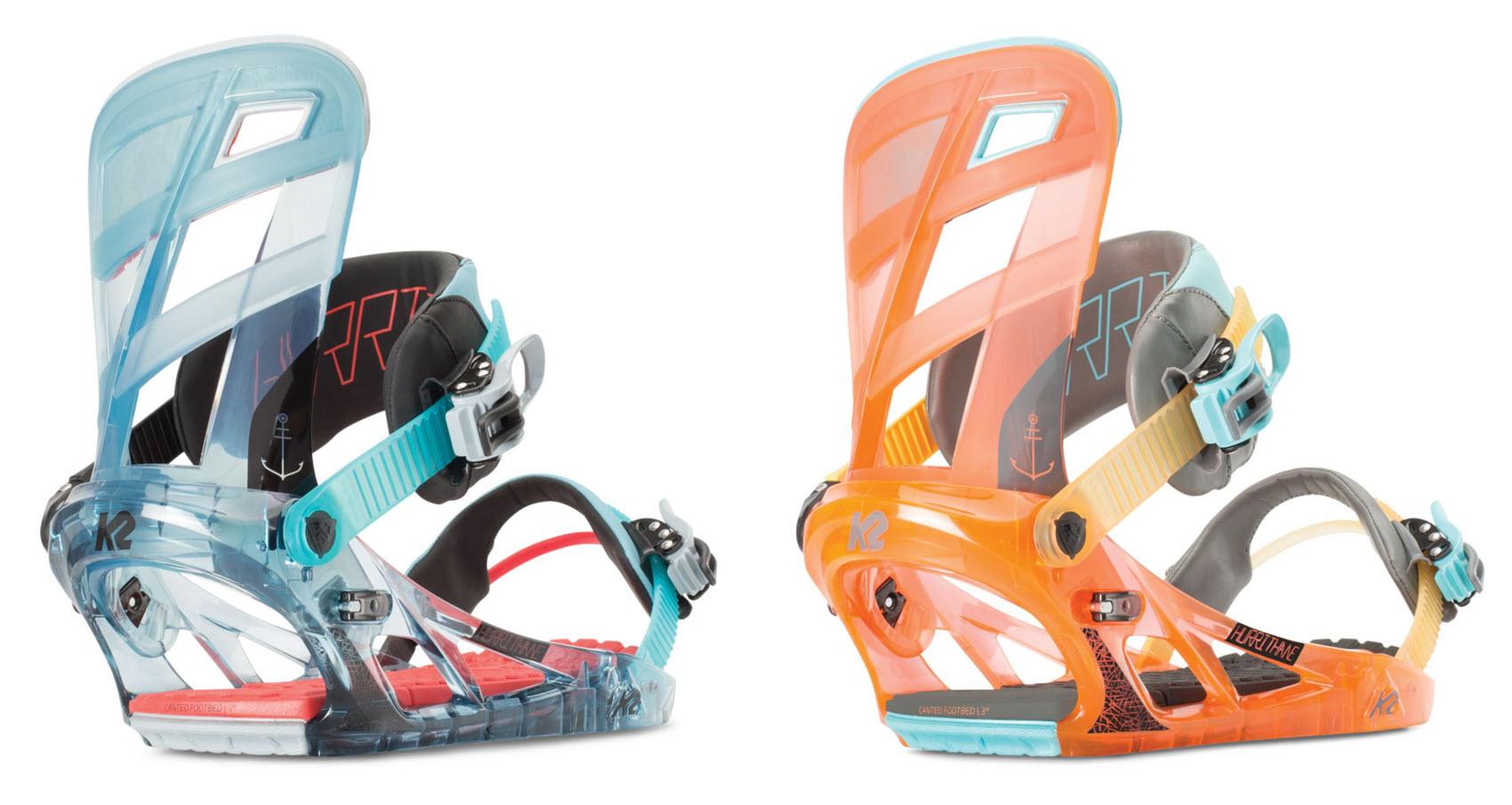 2 Hurrithane Park Canted Soft Freestyle K2 Snowboard Binding Tweekback