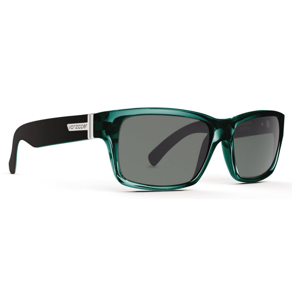 c2d49e9883 Von Zipper VZ Fulton Sunglasses Green Black Crystal with Grey Lens ...