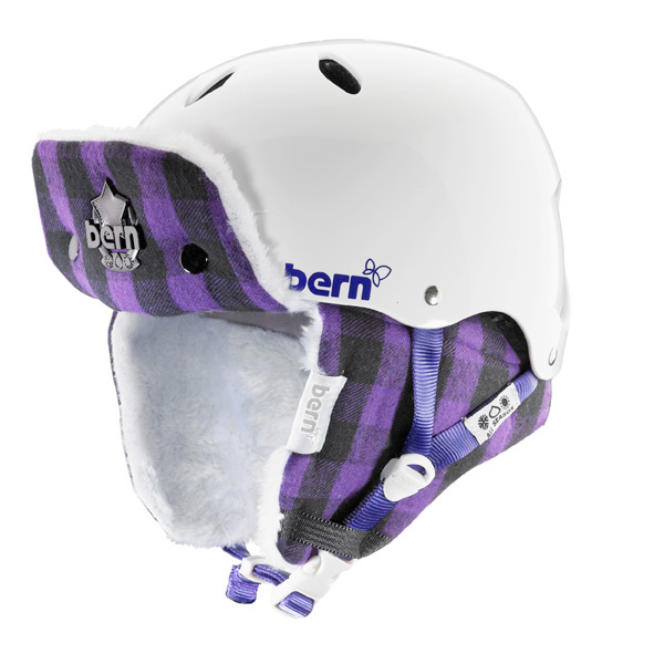 e598fc4d2c91  Bern Womens Winter Liner for Hard Hat Buffalo Plaid M L