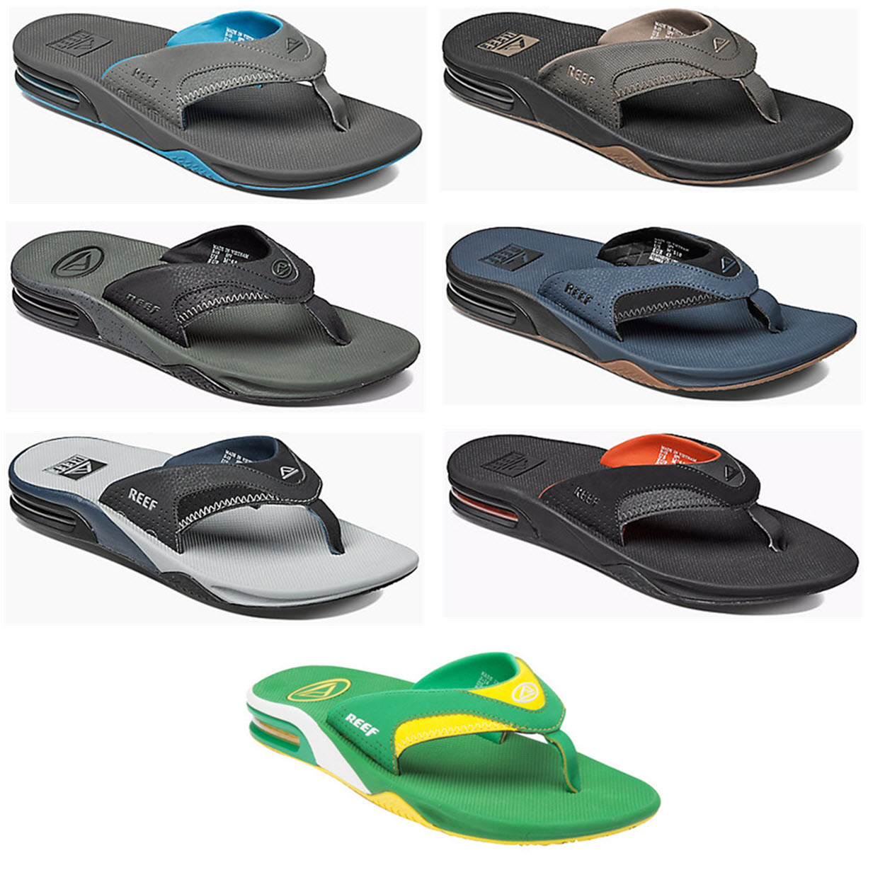 7f2fb047619 Details about Reef Sandal - Fanning Flip Flops - Mick Fanning Pro Model