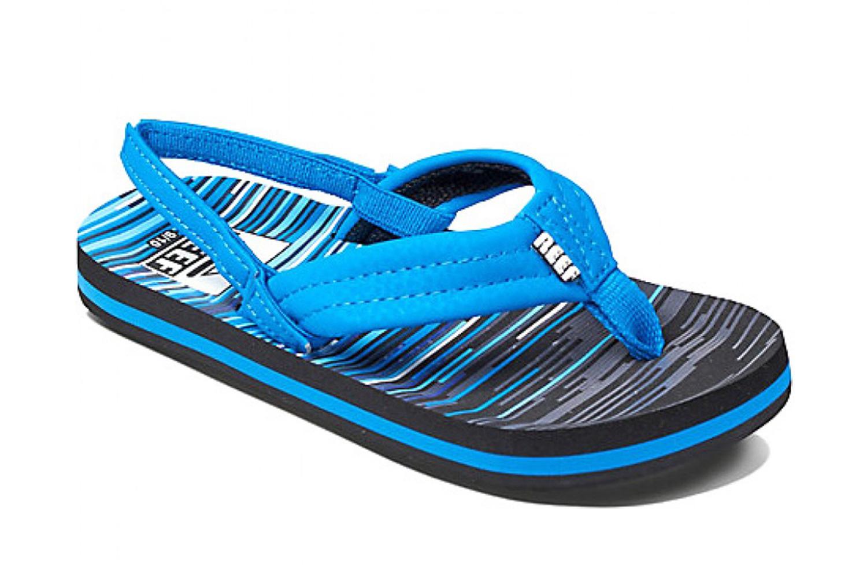 24ad8a379565  Reef Ahi Flip Flops Blue Lines 2 3 Kids