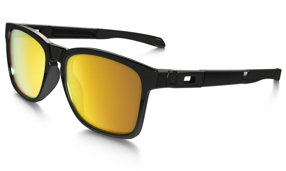 Oakley Catalyst Sunglasses in Polished Black with 24k Iridium Lens