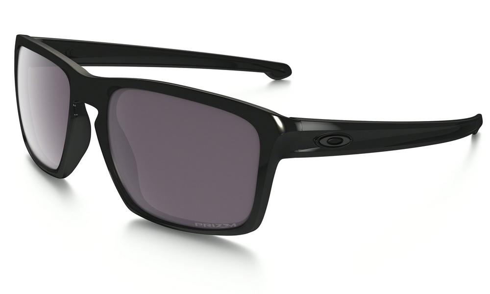 Oakley Sliver Polished Sunglasses in Black with Prizm Daily Polarized Lens