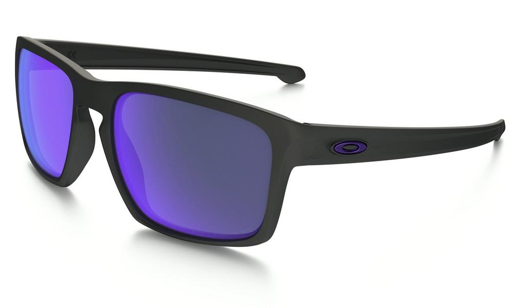 Oakley Sliver Matte Sunglasses in Black with Violet Iridium Polarized Lens