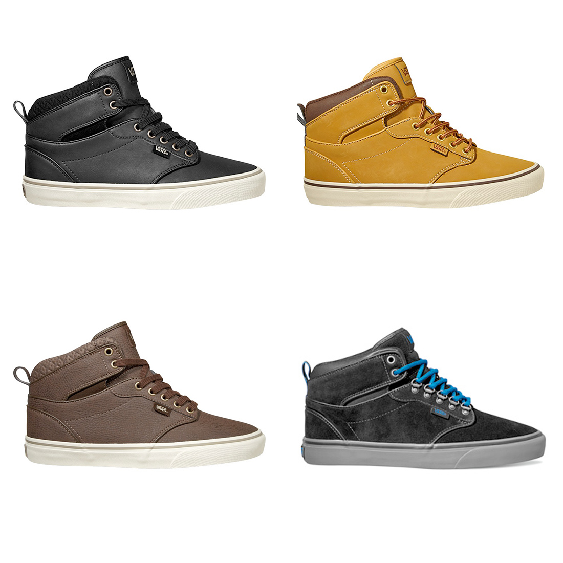 da9e2959f0a Details about Vans Mens Shoes - Atwood Hi Tops - Trainers