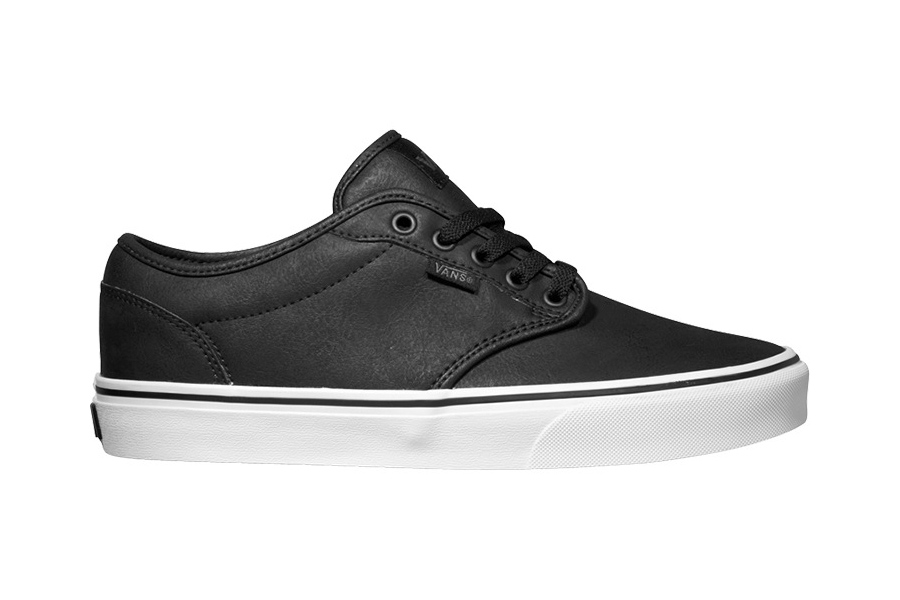 Vans-Mens-Shoes-Atwood-Buck-Leather-Skate-Trainers-Footwear-Brown-Black
