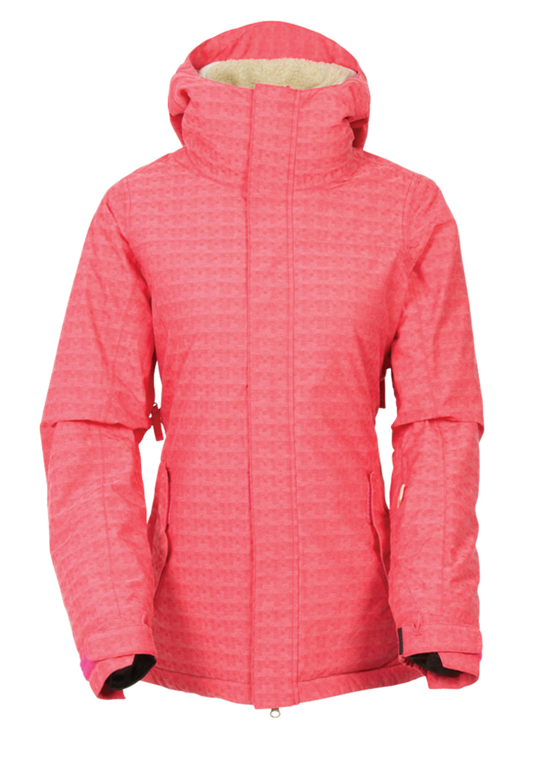 dca46d622b0a 686 Womens Authentic Paradise Insulated Jacket Fuschia Puzzle Dobby ...
