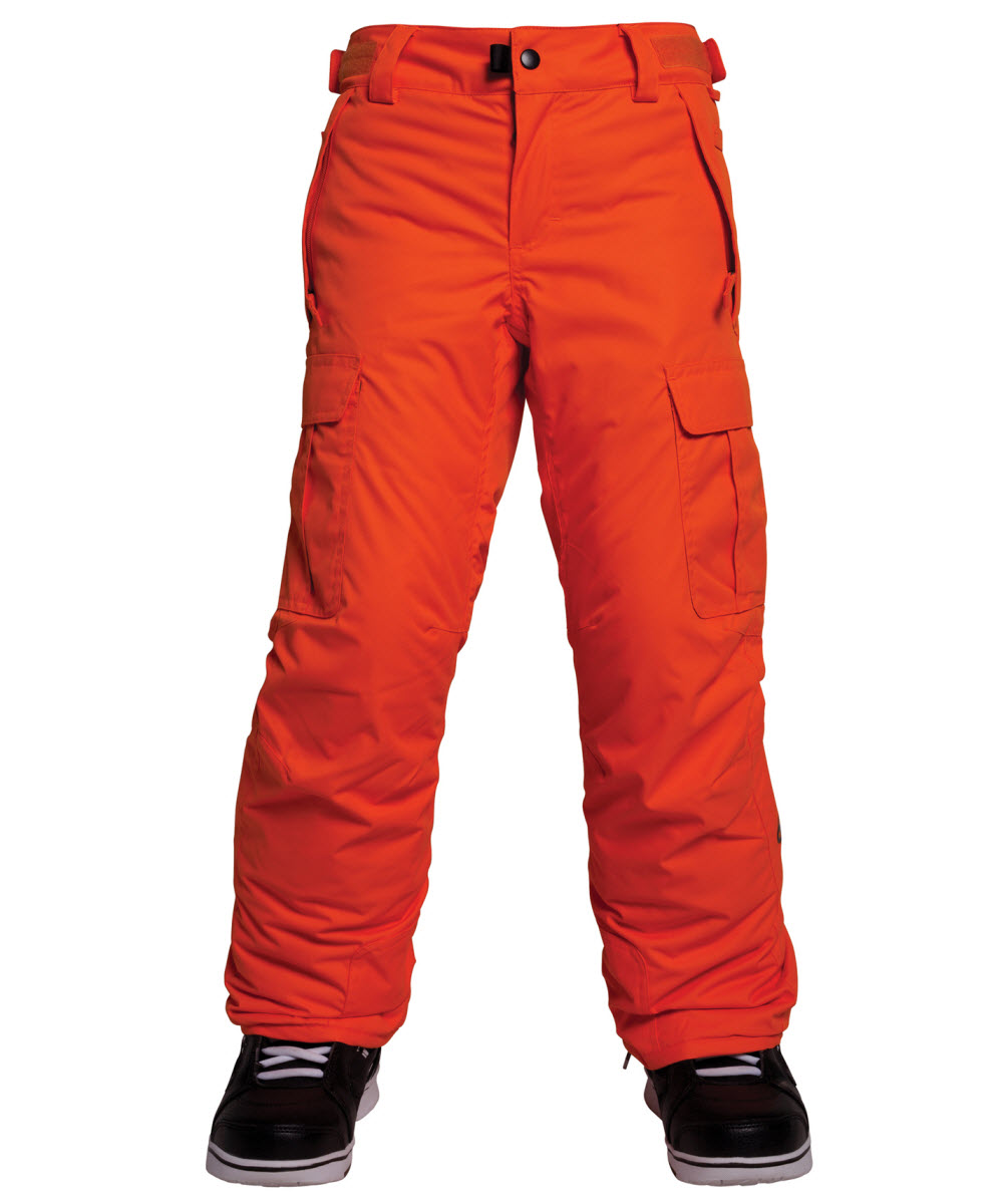 660965d22 686 All Terrain Boys Snowboard Ski Pants Kids - Orange Medium Age 10 ...