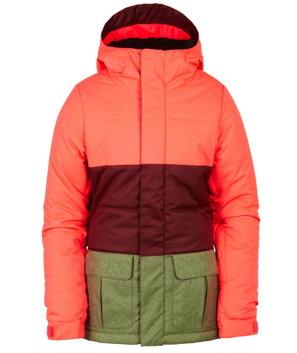 71f88ab8b 686 Girls Polly Insulated Snowboard Jacket Electric Poppy Medium Age ...