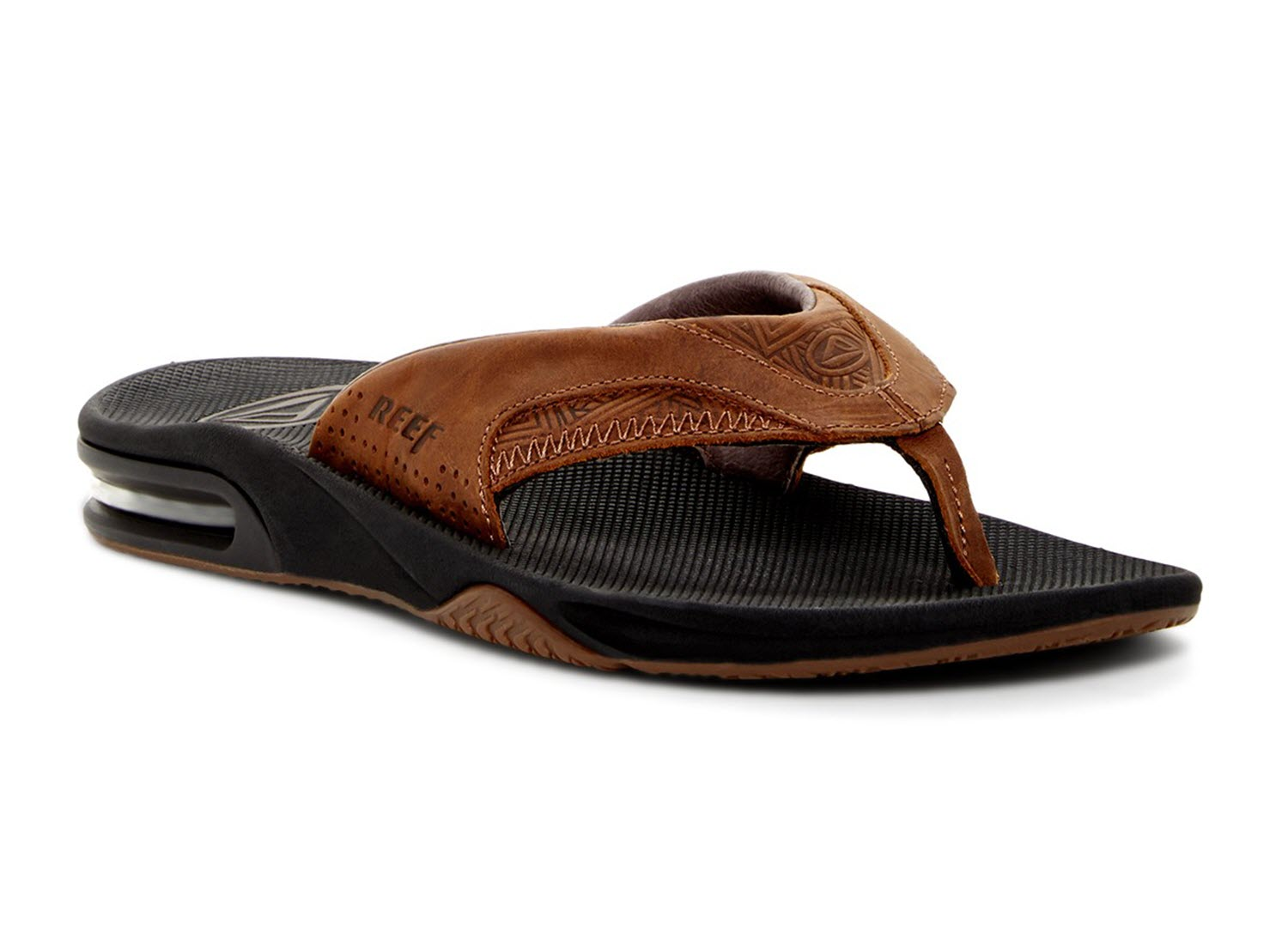 03bfc77ef3e Reef Sandal - Leather Fanning Flip Flops - Mick Fanning Pro Model ...
