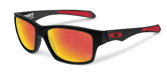 Oakley Jupiter Sunglasses in Ferrari Carbon with Ruby Iridium Polarzied
