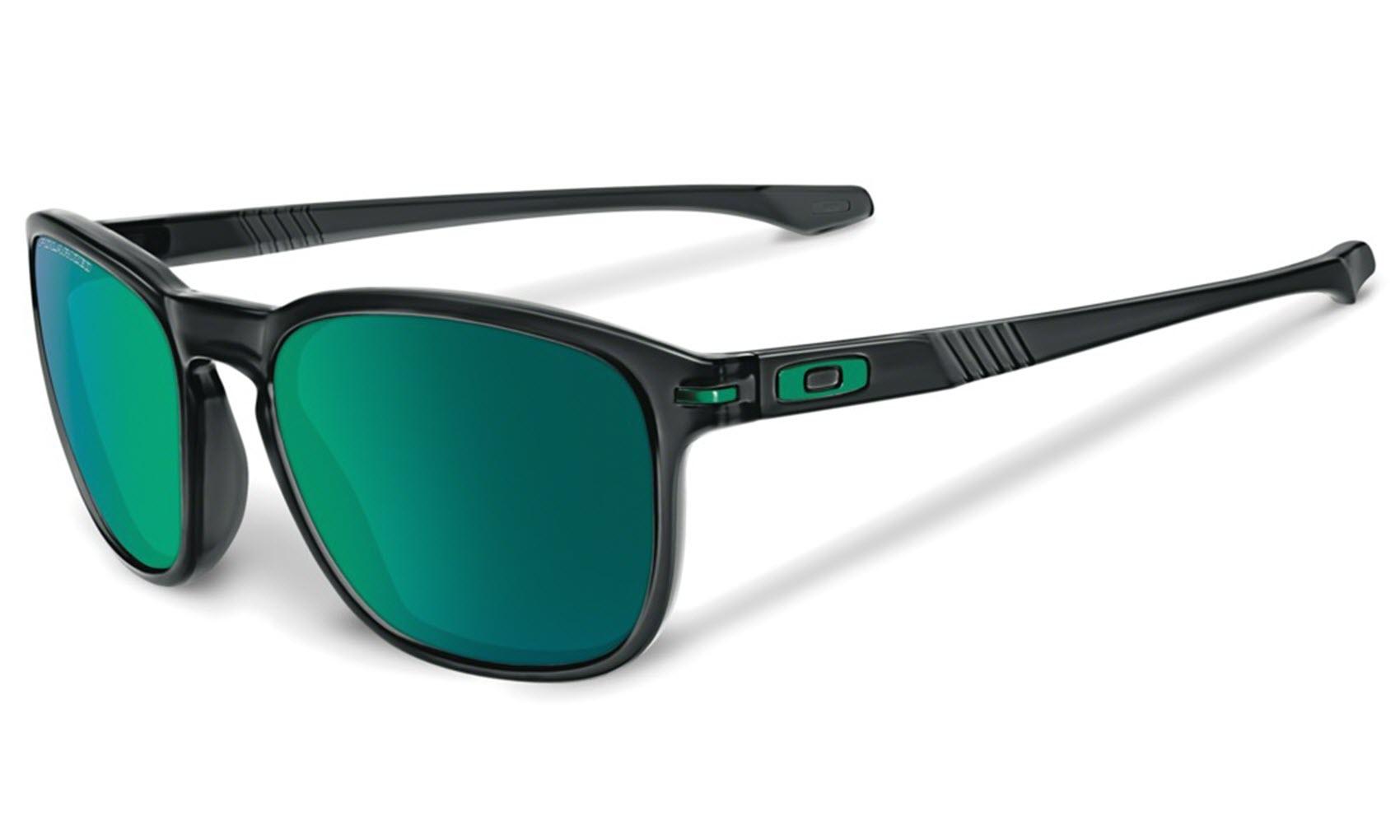 Sentinel Oakley Sunglasses - Enduro - Black Ink, Jade Iridum Polarized  OO9233-15