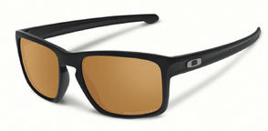 Oakley Sliver Sunglasses Matte Black with Bronze Polarized Lens