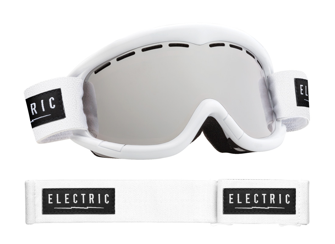 bfbbb757ef Electric EG1K Kids Snowboard Ski Goggles White Gloss Bronze Silver Chrome  Lens