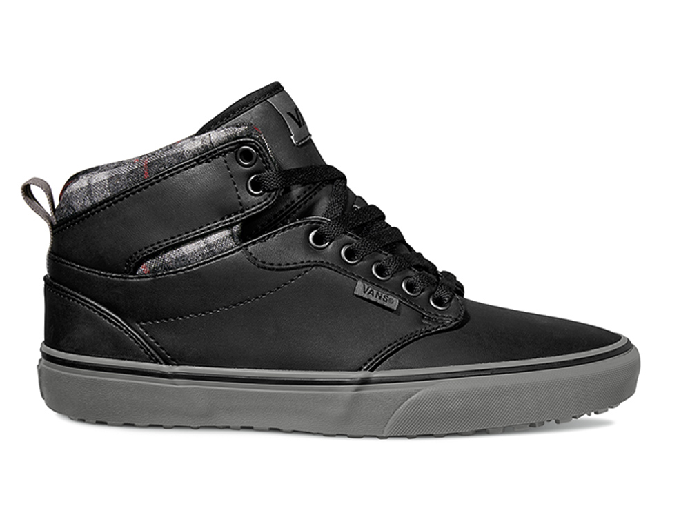 c21306b93e5 Vans Atwood HI Top MTE Flannel Black Bungee