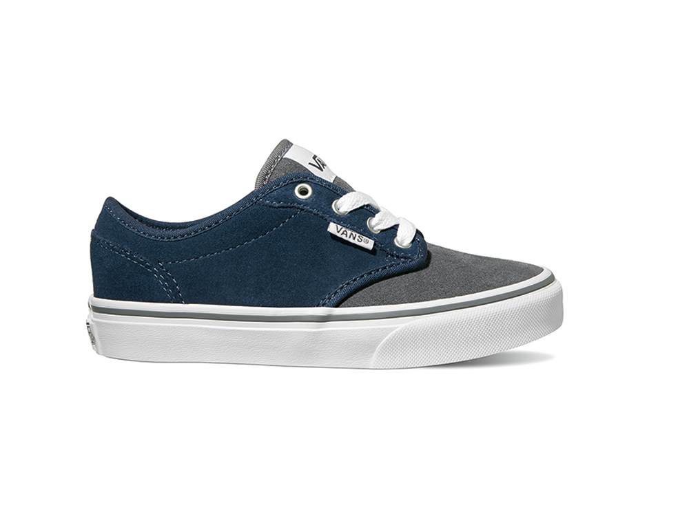 Sentinel Vans Youth Skate Shoes - Atwood - (Varsity) Navy Gray 0159f205acac