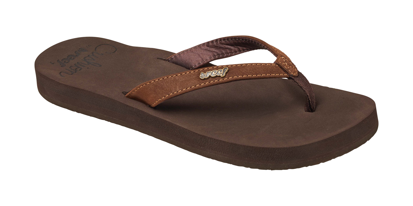 4a64ca9b3a5e62 Reef Womens Cushion Luna Flip Flops 2017 Brown