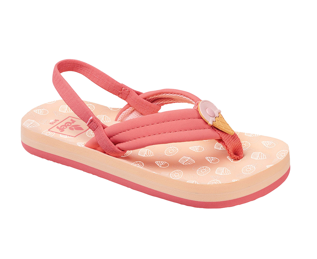968b1e114babe7 Reef Little Ahi Scents Flip Flops Ice Cream