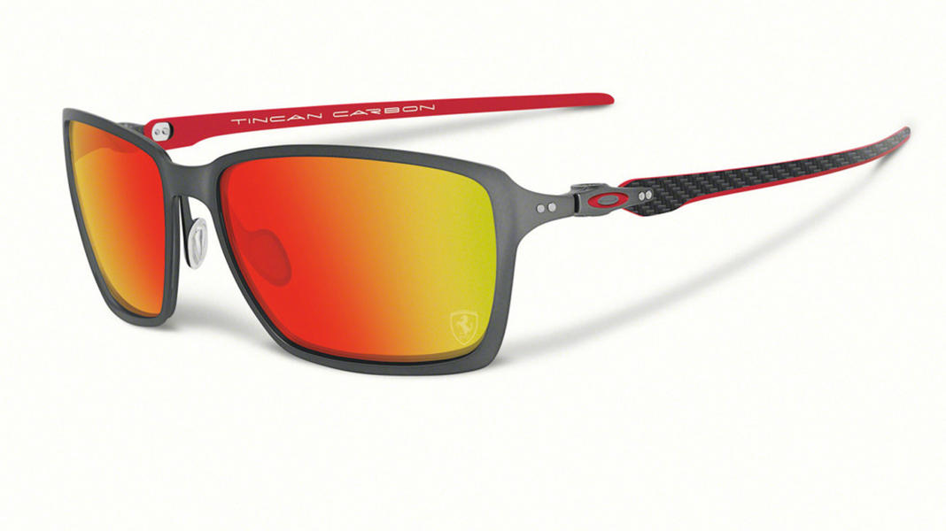Oakley Tincan Carbon Sunglasses Carbon with Ruby Iridium Lens
