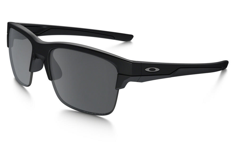 Oakley Thinlink Sunglasses Matte Black with Black Iridium Polarized Lens