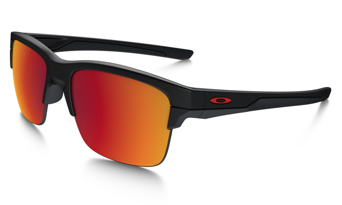 76cd31c407 Oakley Thinlink Sunglasses Matte Black with Torch Iridium Polarized Lens