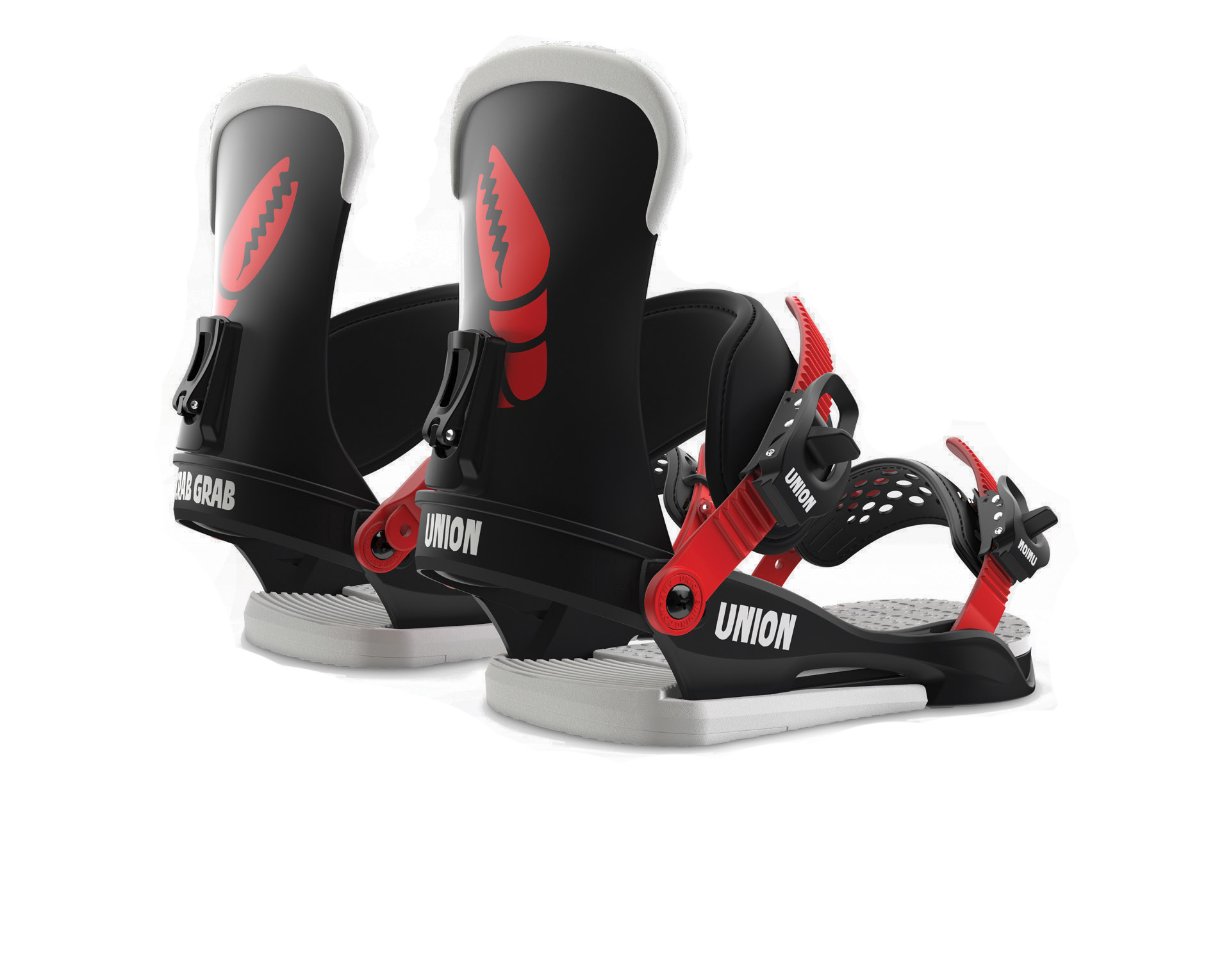Union crab grab mega claw custom house snowboard bindings for Housse snowboard