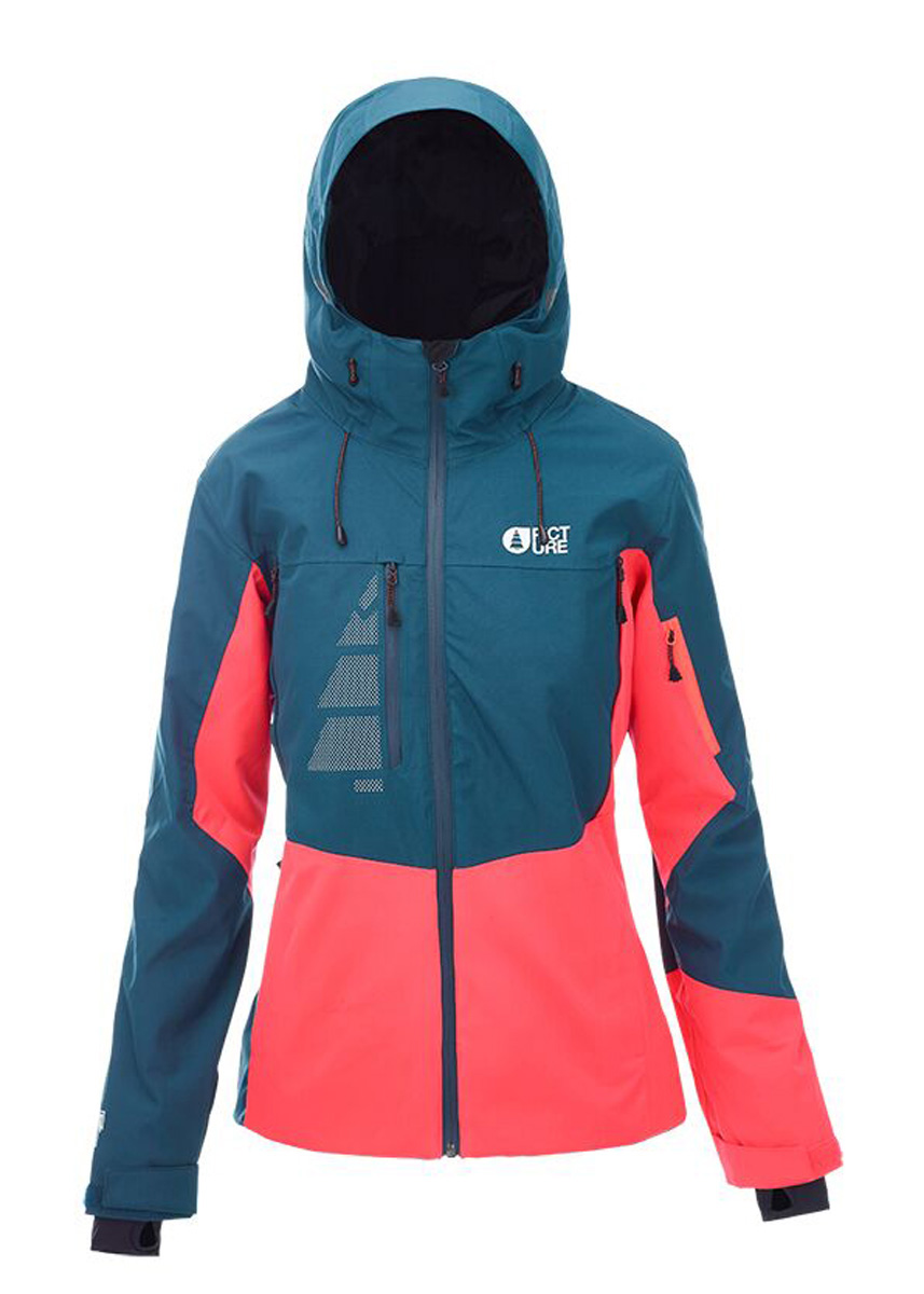 b070a3c6 Sentinel Picture Womens Snowboard Jacket - Seen - Petrol Blue Neon Coral,  Ski - 2018