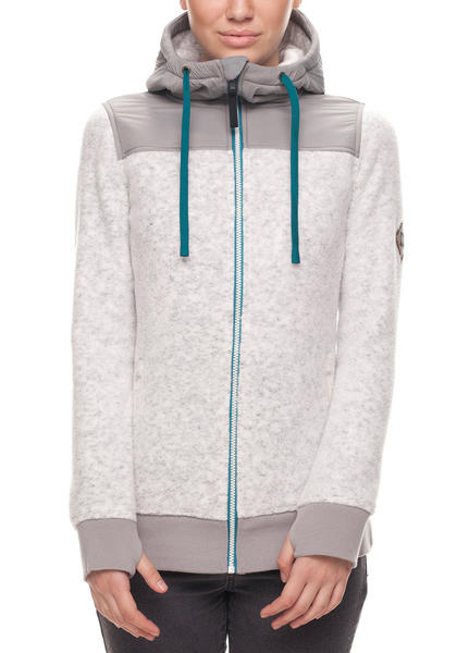 686 Flo Polar Zip Womens Fleece - Grey Small 2018