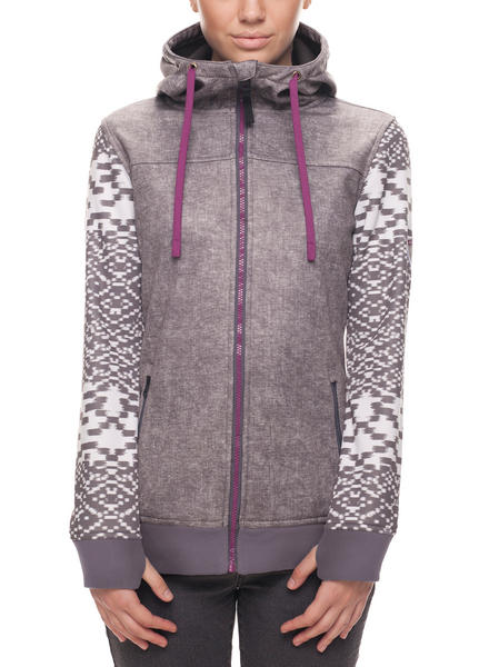 686 Womens Ella Bonded Tech Fleece Hoody - Charcoal Small 2018