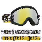 Electric EGV Snowboard Goggles 2018 - Bones w Brose Gold Chrome + Bonus Choice Lens Thumbnail 3