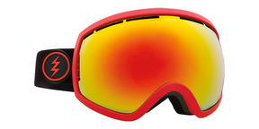 Electric EG2 Snowboard Goggles 2018 - Black Red w Brose Red Chrome + Bonus Choice Lens