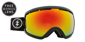 Electric EG2.5 Snowboard Goggles 2018 - Gloss Black Brose w Red Chrome + Bonus Light Green Lens