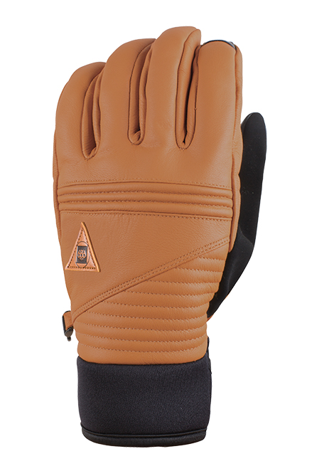 e8b3d7740a6c 686 Gore-Tex Leather Snowboard Ski Gloves - Brown Large 2018