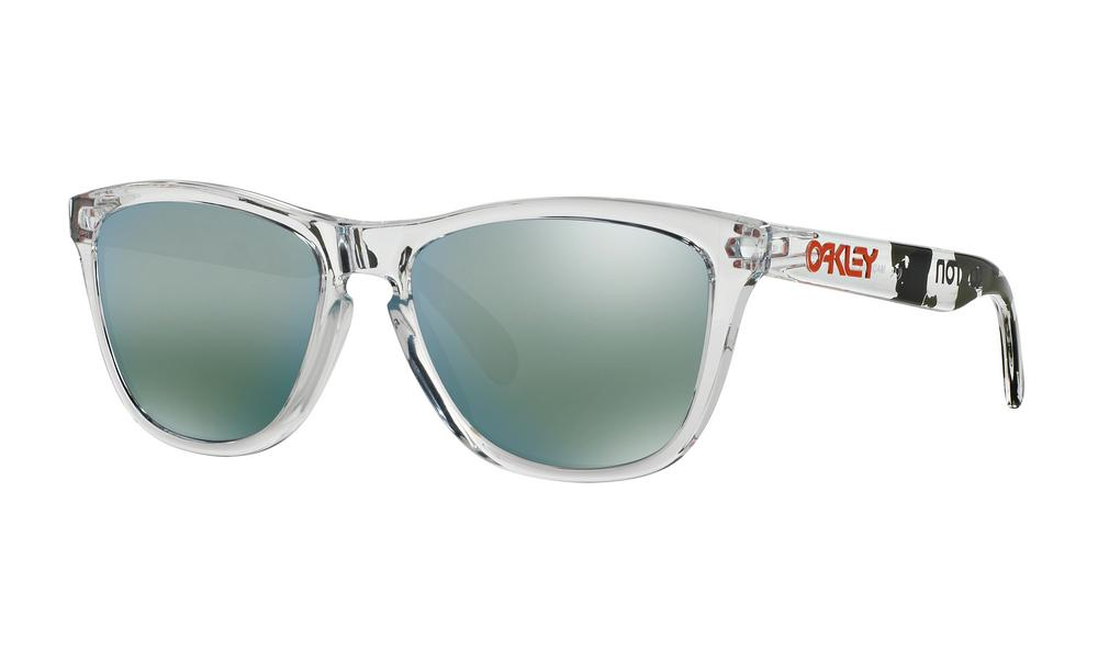 Oakley Frogskins Sunglasses Koston Clear Camo with Emerald Iridium