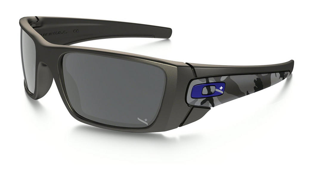 Oakley Fuel Cell Sunglasses Matte Carbon Camo with Black Iridium