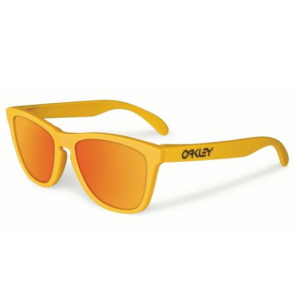 Oakley Frogskins Sunglasses Pikes Gold with Fire Iridium