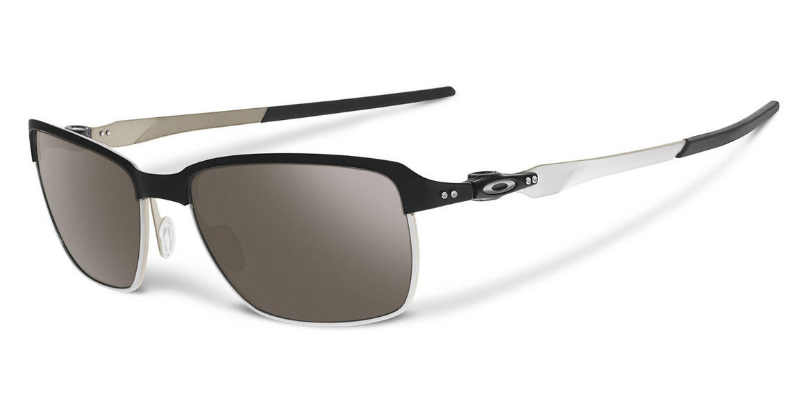 Oakley Tinfoil Sunglasses Matte Black with Warm Grey