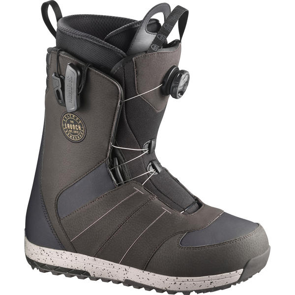 Salomon Launch BOA STR8JKT Mens Snowboard Boots Grey 2018