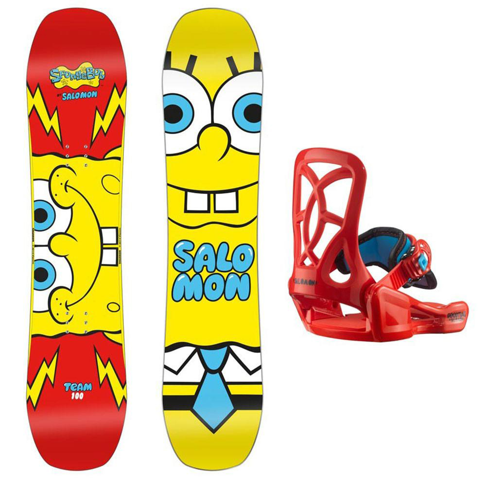 f5d9f467623a Sentinel Salomon Kids Snowboard   Binding Pack - Team SpongeBob SquarePants  - Beginner